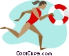 Vector Clipart image  of a lifeguard