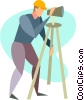 Vector Clip Art image  of a surveyor