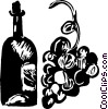 bottle of wine Vector Clipart illustration