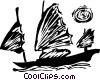 Vector Clipart picture  of a Chinese junk