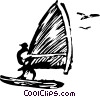 windsurfer Vector Clipart illustration
