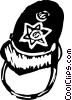 Vector Clip Art image  of a Police officer hat