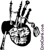 Vector Clip Art picture  of a bagpipes