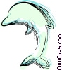 Vector Clipart illustration  of a dolphin