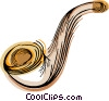 Vector Clipart image  of a smoking pipe
