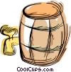 barrel of beer Vector Clipart illustration
