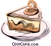 piece of pie Vector Clipart illustration