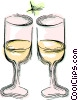 Vector Clip Art graphic  of a wine glasses