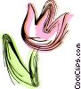 Red tulip Vector Clipart illustration