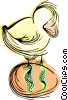 Chick with Easter egg Vector Clip Art picture