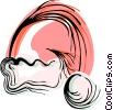 Vector Clip Art image  of a Santa's hat