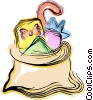 sack of toys Vector Clipart graphic