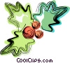 Vector Clip Art graphic  of a Christmas holly