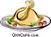 Vector Clip Art image  of a Roast turkey