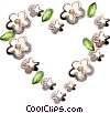 Vector Clipart picture  of a flower heart design