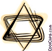 Star of David Vector Clipart illustration