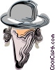 Vector Clipart picture  of a Rabbi