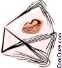 Vector Clipart illustration  of a Love letter