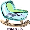 Vector Clipart illustration  of a Baby crib