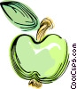 Vector Clip Art graphic  of a Green apple