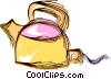 Vector Clipart illustration  of a Boiling kettle