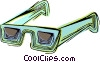 Vector Clipart picture  of a Sunglasses