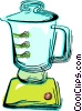 Vector Clip Art image  of a Electric blender
