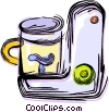 Vector Clip Art picture  of a Electric mixer