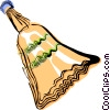 Vector Clip Art graphic  of a Dust broom