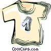 Vector Clip Art image  of a T shirt