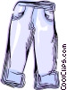 Vector Clipart picture  of a Pair of jeans