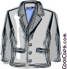 Vector Clip Art graphic  of a Dress coat