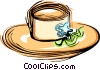 Vector Clipart illustration  of a Woman's dress hat