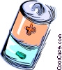 Vector Clipart image  of an AAA battery