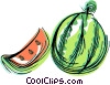Vector Clipart illustration  of a Slice of watermelon