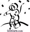 Vector Clipart graphic  of an astronaut