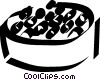 Vector Clipart image  of a caviar