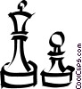 Vector Clipart graphic  of a Chess pieces