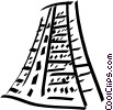 Vector Clip Art image  of a Incan pyramid