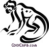 Vector Clip Art picture  of a monkey