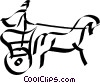Roman Chariot Vector Clipart illustration