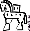 Vector Clip Art graphic  of a Roman horse