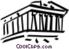 Vector Clipart image  of a Parthenon