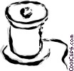 Vector Clip Art graphic  of a spool of thread