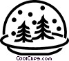 Vector Clipart picture  of a Winter snow globe