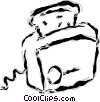 Vector Clipart image  of a toaster
