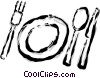 Vector Clip Art graphic  of a place setting