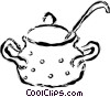 Vector Clipart illustration  of a Pot of soup