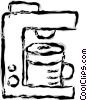 Vector Clip Art image  of a coffee machine
