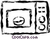 Vector Clipart image  of a microwave oven